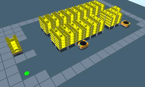 AGV 台数 シミュレーション