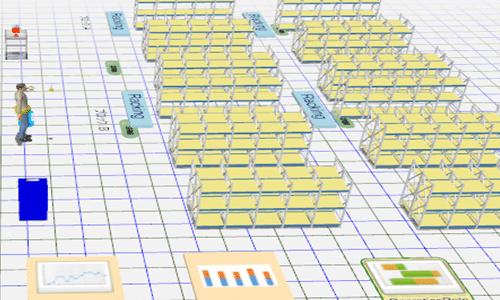 ピッキング シミュレーション 倉庫
