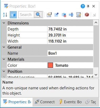 Emulate3D プロパティウインドウ 任意の単位に設定